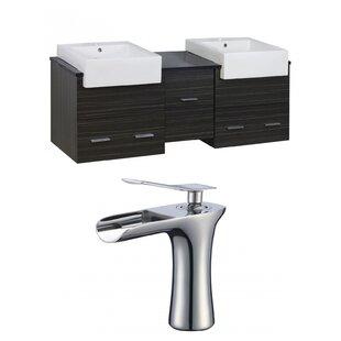 Hindman 60 WallMounted Double Bathroom Vanity Set