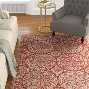 Andy Hand-Tufted Red/Neutral Area Rug By Alcott Hill