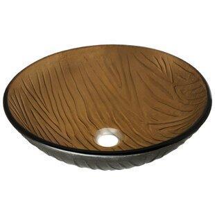 MR Direct Beach Sand Glass Circular Vessel Bathroom Sink