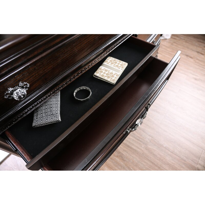 Rosdorf Park Demar 8 Drawer Double Dresser With Mirror Wayfair