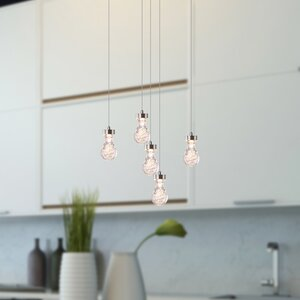 Orren Ellis Atoka 5 Light Led Cluster Pendant Wayfair