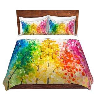 Ebern Designs Sisson Lam Fuk Tim Colorful Trees II Microfiber Duvet Covers