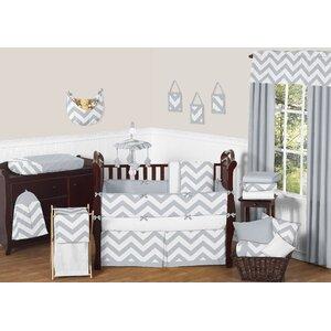 Chevron 9 Piece Crib Bedding Set