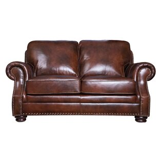 Darby Home Co Barryknoll Leather Loveseat
