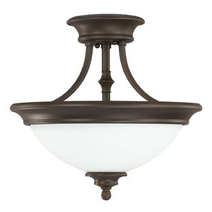 Lindenwood 2-Light Semi-Flush Mount by Charlton Home
