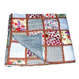 World Menagerie Riedel Cotton Block Print Patchwork Quilt