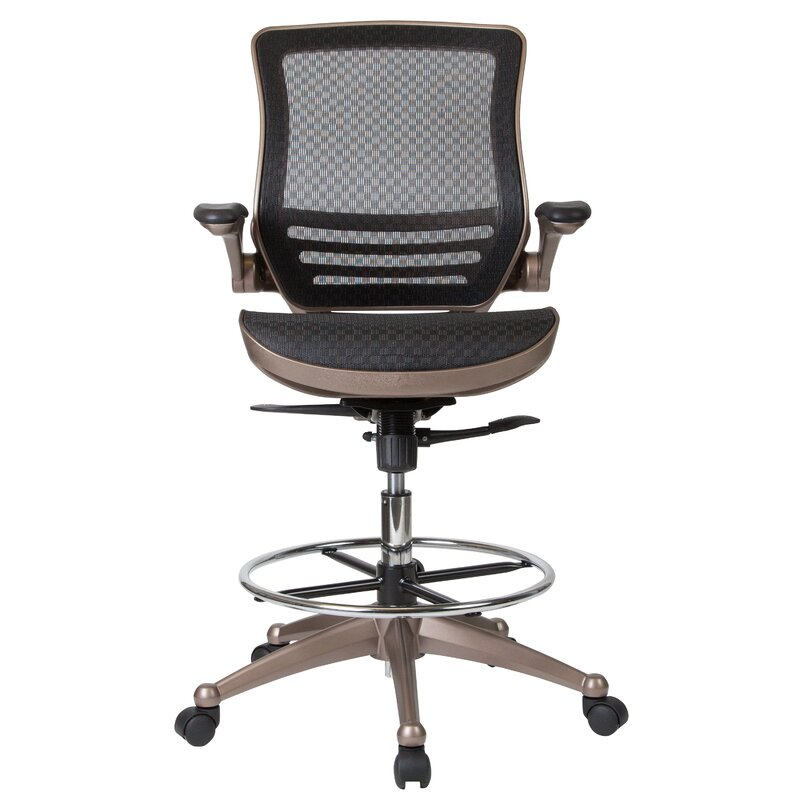 Exceptionnel Mignone Mid Back Transparent Mesh Drafting Chair