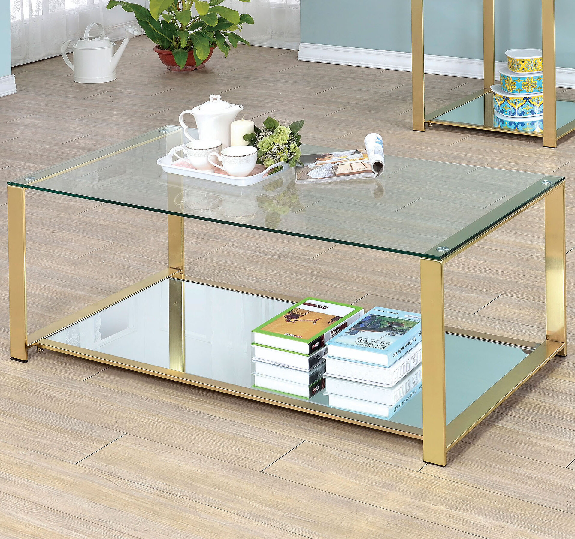 Willa Arlo Interiors Ruchelly Metal Frame Coffee Table & Reviews