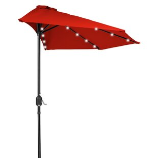 Trademark Innovations 9' Lighted Half Umbrella