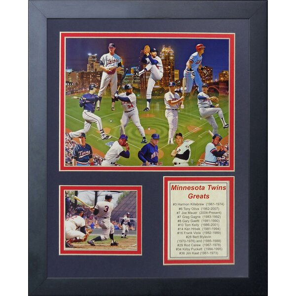 11 x 14-Inch Legends Never Die 1991 Minnesota Twins Champions Framed Photo Collage