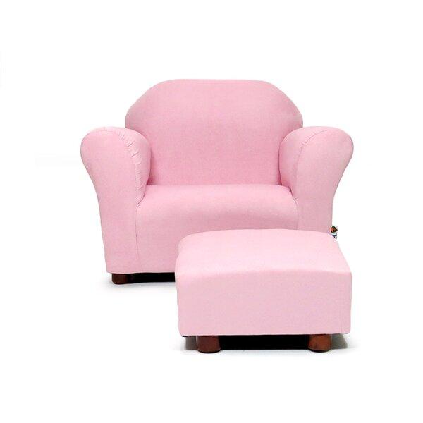 Zoomie Kids Jovanni Kids Club Chair And Ottoman U0026 Reviews | Wayfair