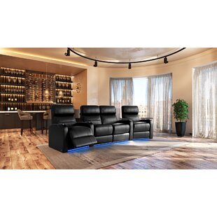 Latitude Run Large LED Flex Light Home Theater Row Seating (Row of 4)