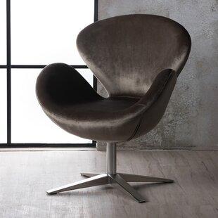 Broaddus Swivel Armchair by Wrought Studio