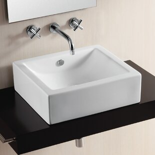 Looking for Ceramica II Ceramic Square Vessel Bathroom Sink with Overflow By Caracalla