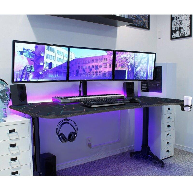 Homall Height Adjustable Gaming Desk Reviews Wayfair