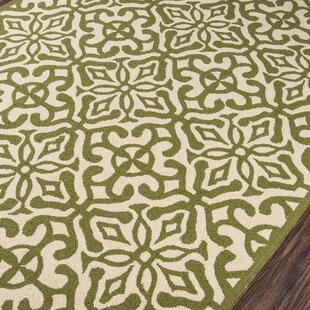 St James Hand-Hooked Green Indoor/Outdoor Area Rug