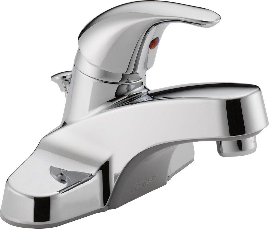 bathtub faucet. Centerset Bathroom Faucet with Single Handle Peerless Faucets