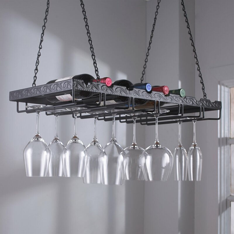Wine Enthusiast Companies 8 Bottle Hanging Wine Rack Reviews Wayfair