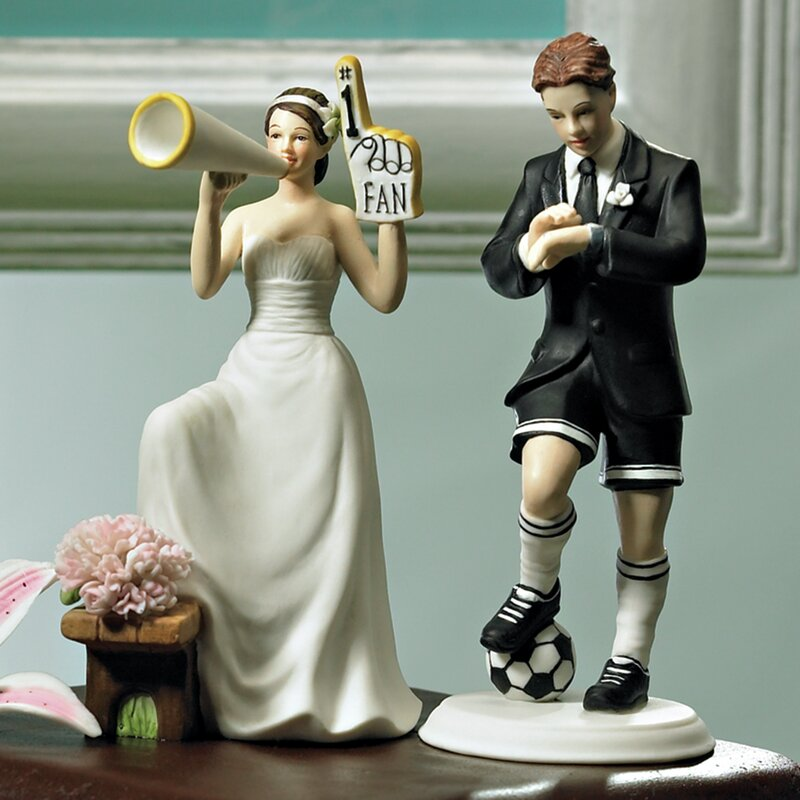 Biggest Fan Bride and Groom Cake Topper