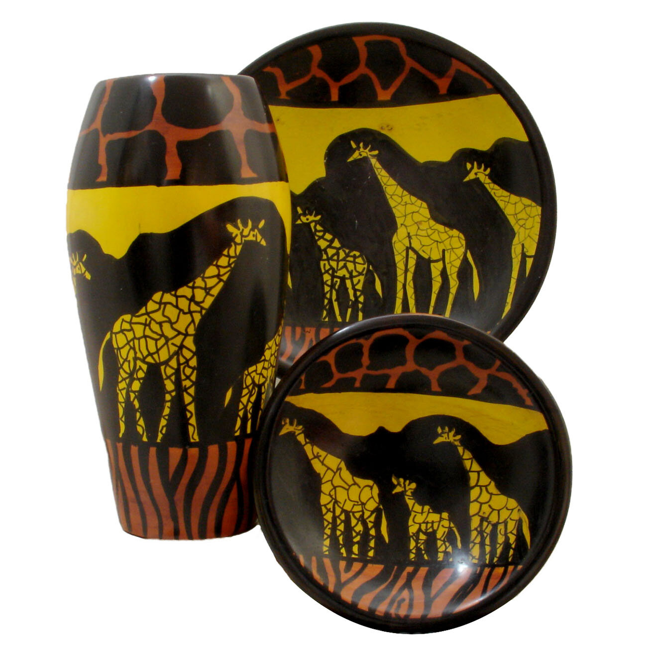 Stoneageartsglobal Kissi Giraffe 3 Piece Urn Set Wayfair
