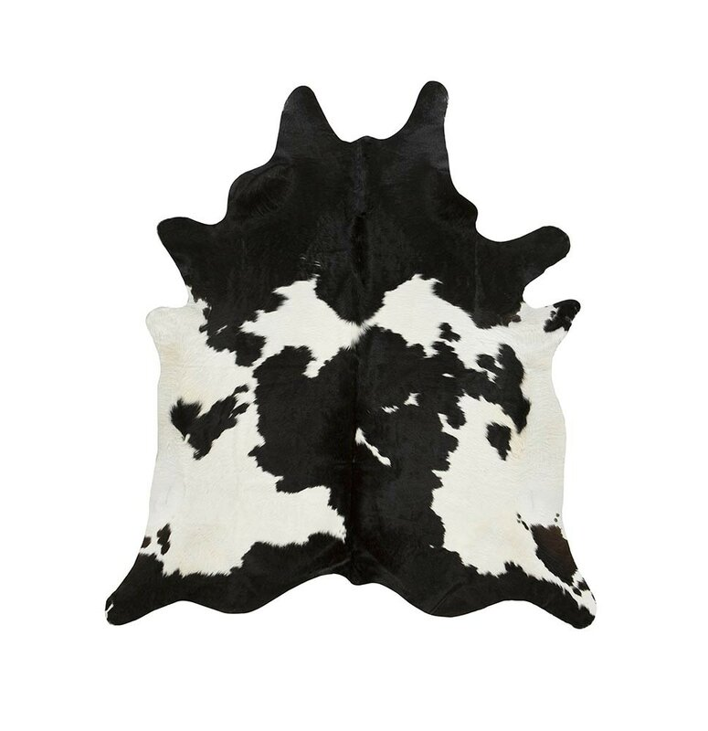Special Cowhide Black White Area Rug