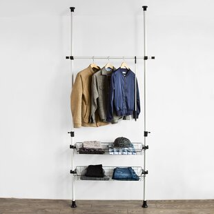 Review 85cm Wide Clothes Storage System