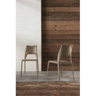 YumanMod Juno Genuine Leather Upholstered Dining Chair