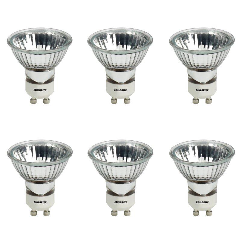 Bulbrite Industries 50 Watt Mr16 Halogen Dimmable Light Bulb 2900k Gu10 Bi Pin Base Reviews Wayfair