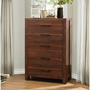Brayden Studio Canarsie Wooden 5 Drawer Chest