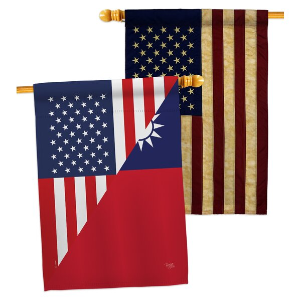 Breeze Decor American Taiwan Friendship Impressions Decorative American Applique 2 Sided 40 X 40 In Polyester House Flag Wayfair