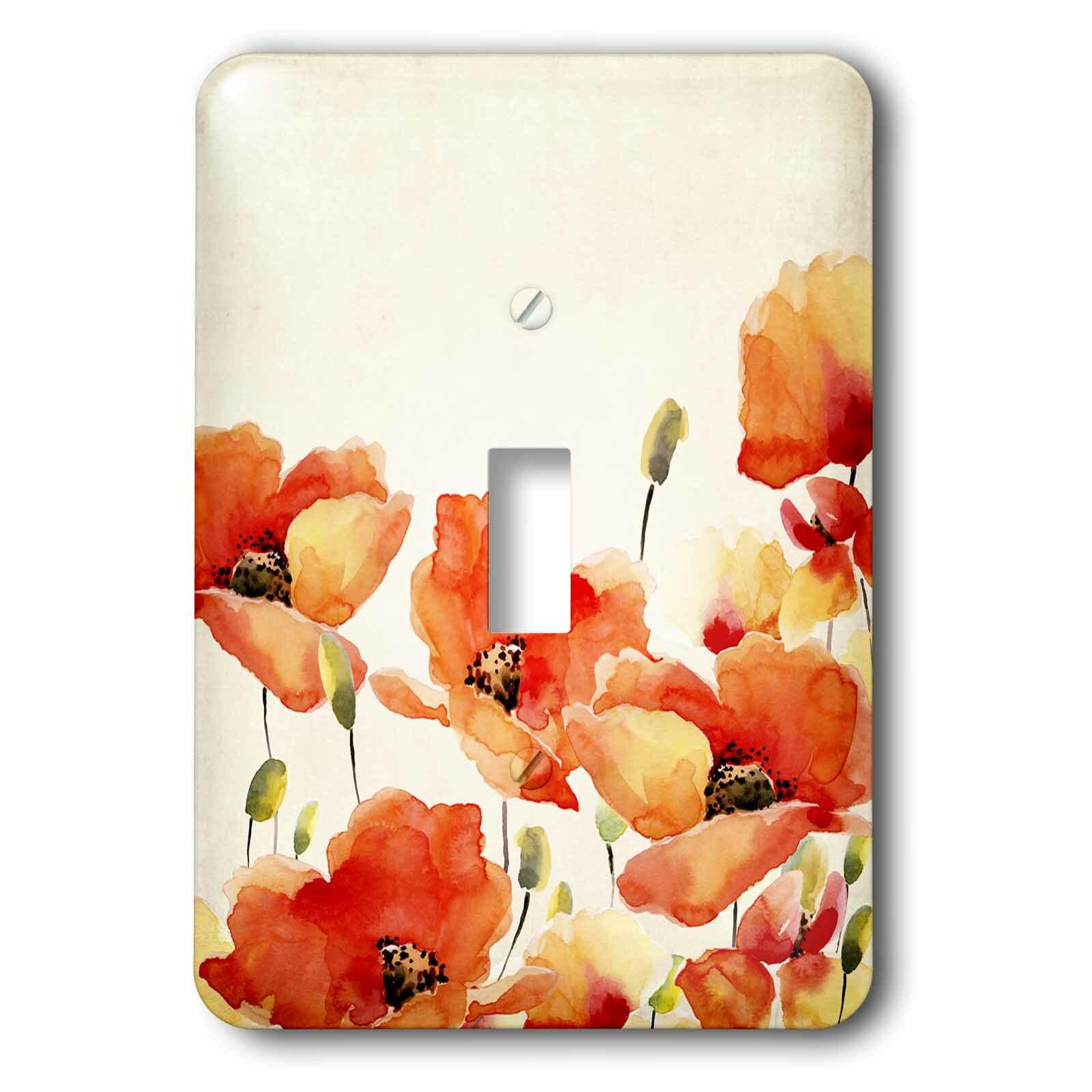 3drose Poppy Flower 1 Gang Toggle Light Switch Wall Plate Wayfair