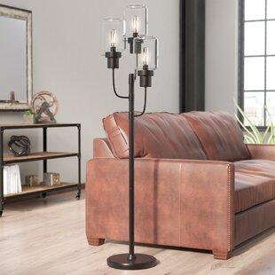 Industrial floor lamps youll love wayfair tozi 5975 tree floor lamp aloadofball Gallery