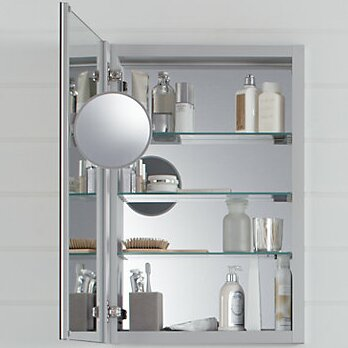 Verdera Aluminum Medicine Cabinet With Adjule Flip Out Mirror 20 X 30