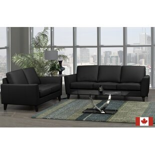 Brunet 2 Piece Leather Living Room Set by Brayden Studio