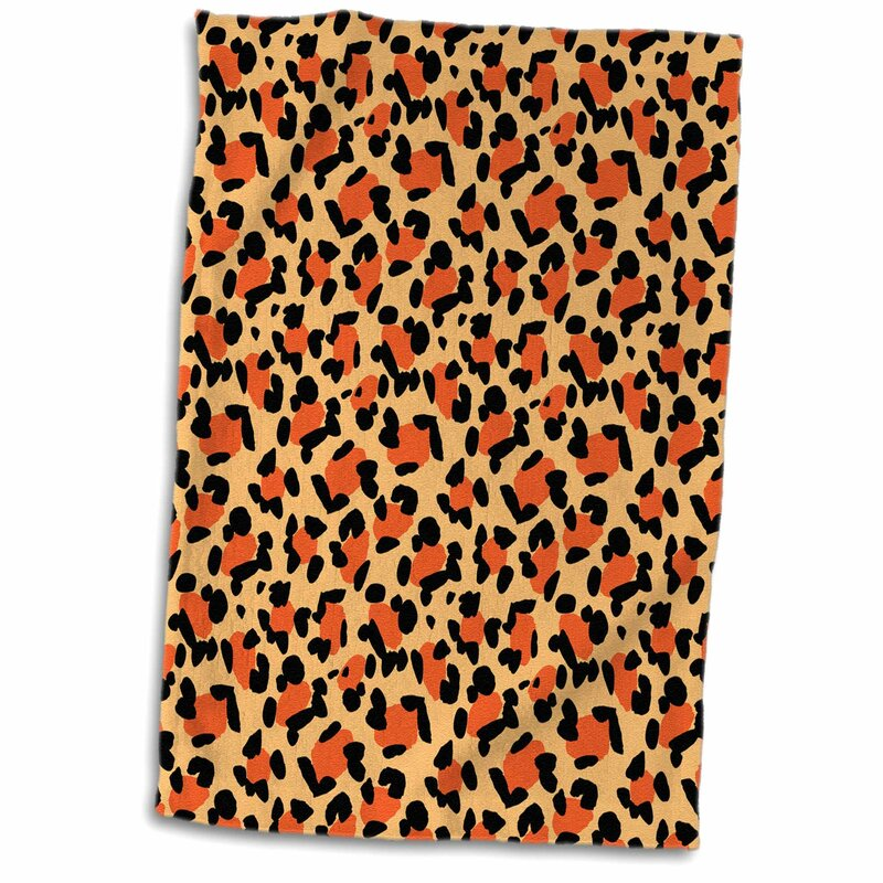 East Urban Home Lacey Leopard Print Tea Towel Wayfair