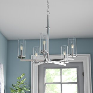 Affordable Myrie 5-Light Shaded Chandelier By Ebern Designs