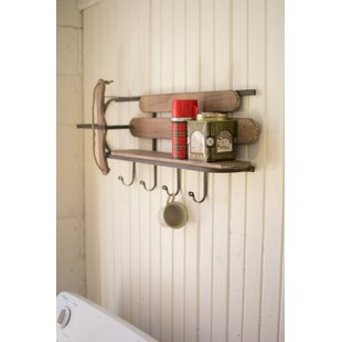 Knapp Wood And Iron Sleigh Wall Shelf by Loon Peak Spacial Price