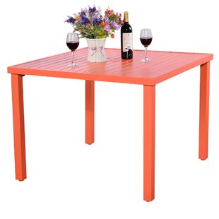 Phillipps Metal Dining Table by Ebern Des..