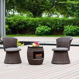 Linzy 3 Piece Bistro Set (Set of 3)