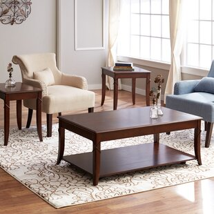Draco 3 Piece Coffee Table Set