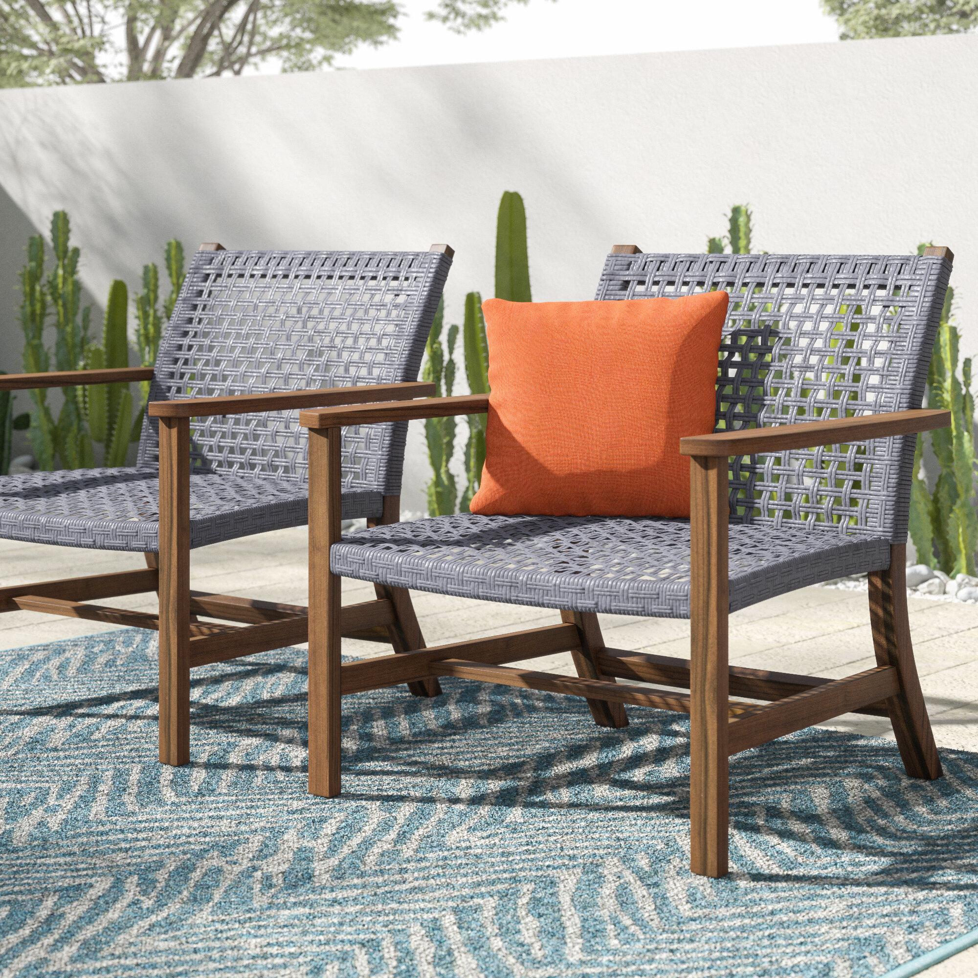 Mistana Tibbitts Teak Patio Chair Reviews Wayfair