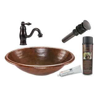 Great choice Metal Oval Drop-In Bathroom Sink with Faucet By Premier Copper Products