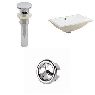 Compare & Buy CSA Ceramic Rectangular Undermount Bathroom Sink with Overflow ByRoyal Purple Bath Kitchen