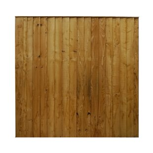 6' x 6' (1.83m x 1.82m) Featheredge Fence Panel (Set of 3) by Home Essence