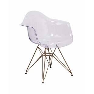 Cambell Transparent Arm Chair Ivy Bronx