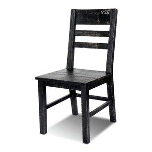 17 Stories Sandie Solid Wood Dining Chair (Set of 2)