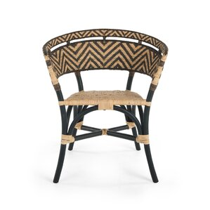Avice 2 Piece Zig-Zag Rattan Club Side Chair by World Menagerie