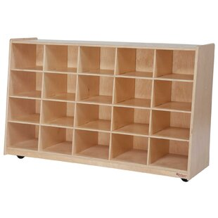 Shopping for Tip-Me-Not 20 Compartment Cubby with Casters ByWood Designs