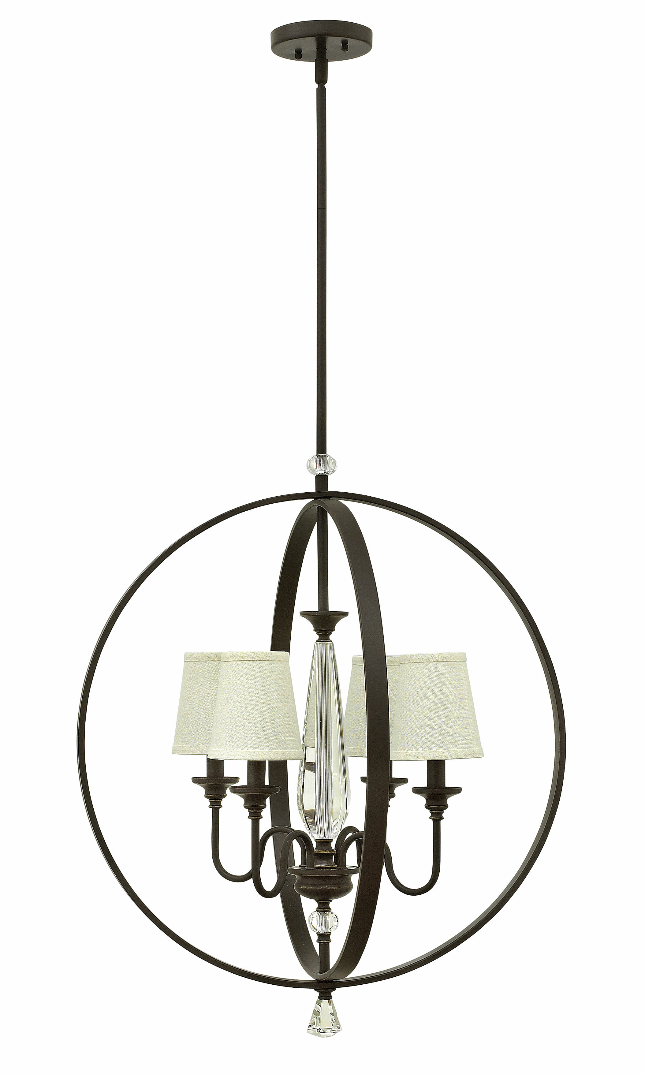 House Of Hampton Sheilah 4 Light Shaded Globe Chandelier With Crystal Accents Wayfair