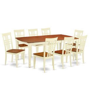 Parkhur 9 Piece Extendable Solid Wood Dining Set August Grove